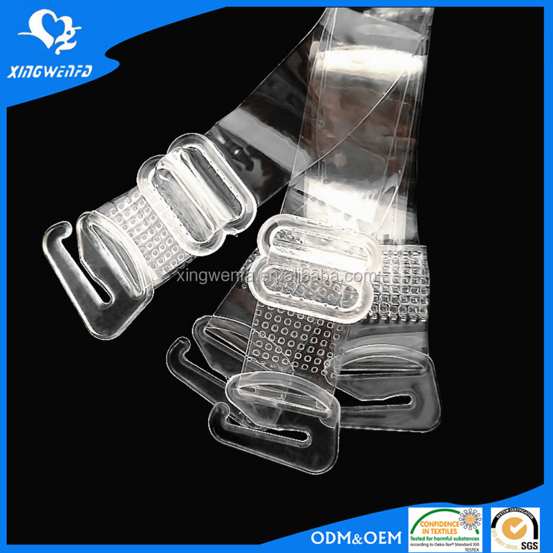 lingerie accessory Transparent Invisible plastic bra strap 12mm TPU bra shoulder strap