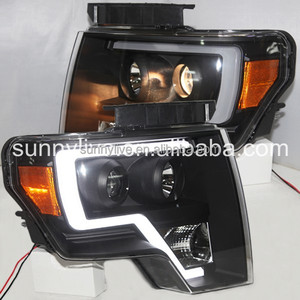 for FORD F150 Raptor LED Strip Head Lamp 2013-2014 LF black