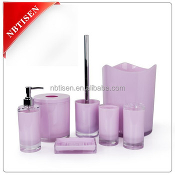 Acrylic Plastic Bathroom Accessories Set Ts8015 7