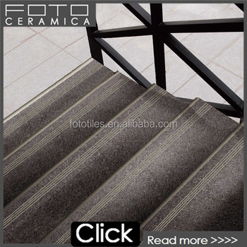 Rustic Glazed Tiling Interior Bullnose Stair Tile Full Body Porcelain Floor  Tile