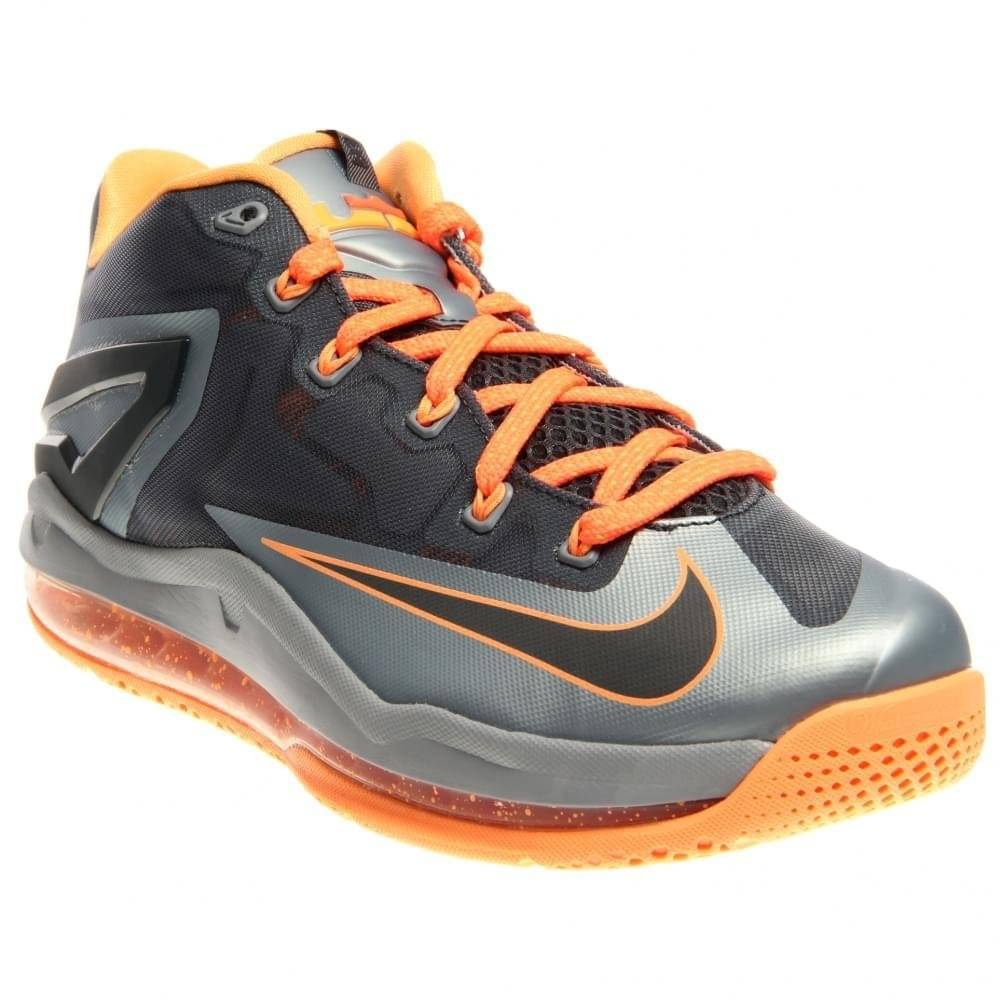 Nike Max Lebron XI Low Men Sneakers Light Magnet Grey/Magnet Grey/Bright Mango/Dark Grey 642849-002 (SIZE: 8)