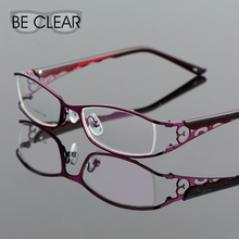 Metel Alloy Eyeglasses Full Rim Optical Frame Prescription Women Spectacle Reading Myopia Flower Fashion Optical Frame Models