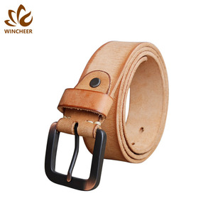 Elegant and generous durable brown camel color manufacturer cow leather belt men