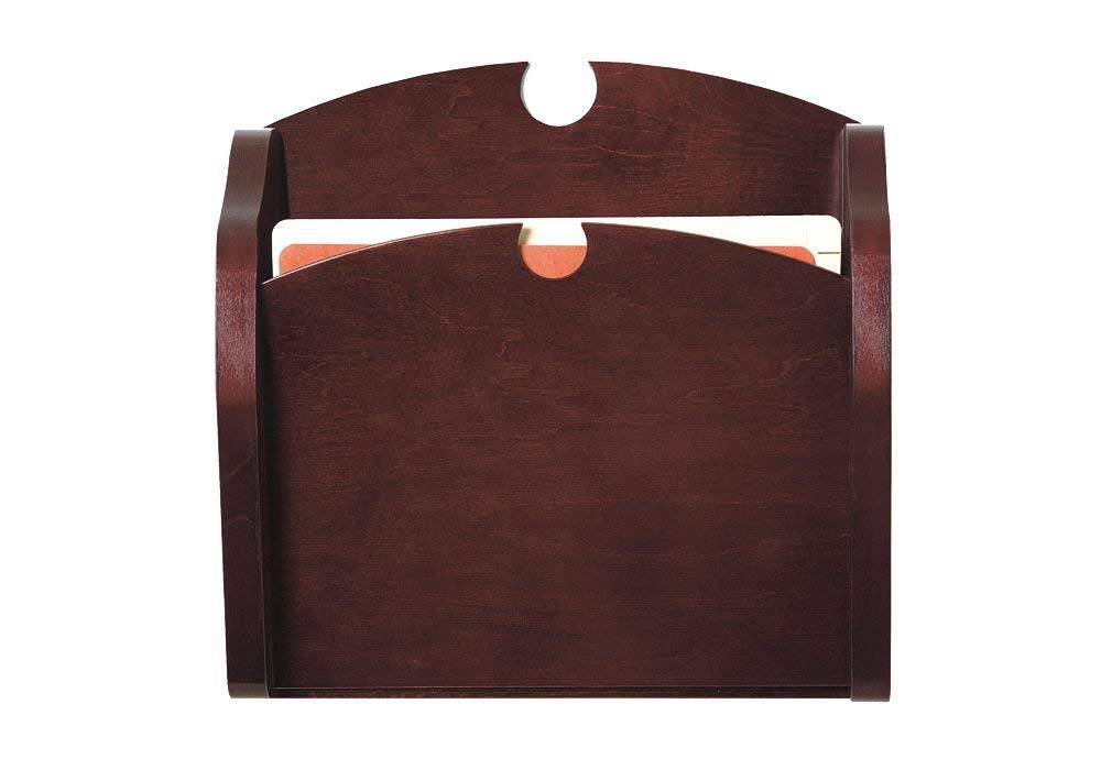 """Traditional One Pocket Chart Holder Dimensions: 15""""W x 3.75""""D x 15""""H Weight: 4 lbs Mahogany Finish"""