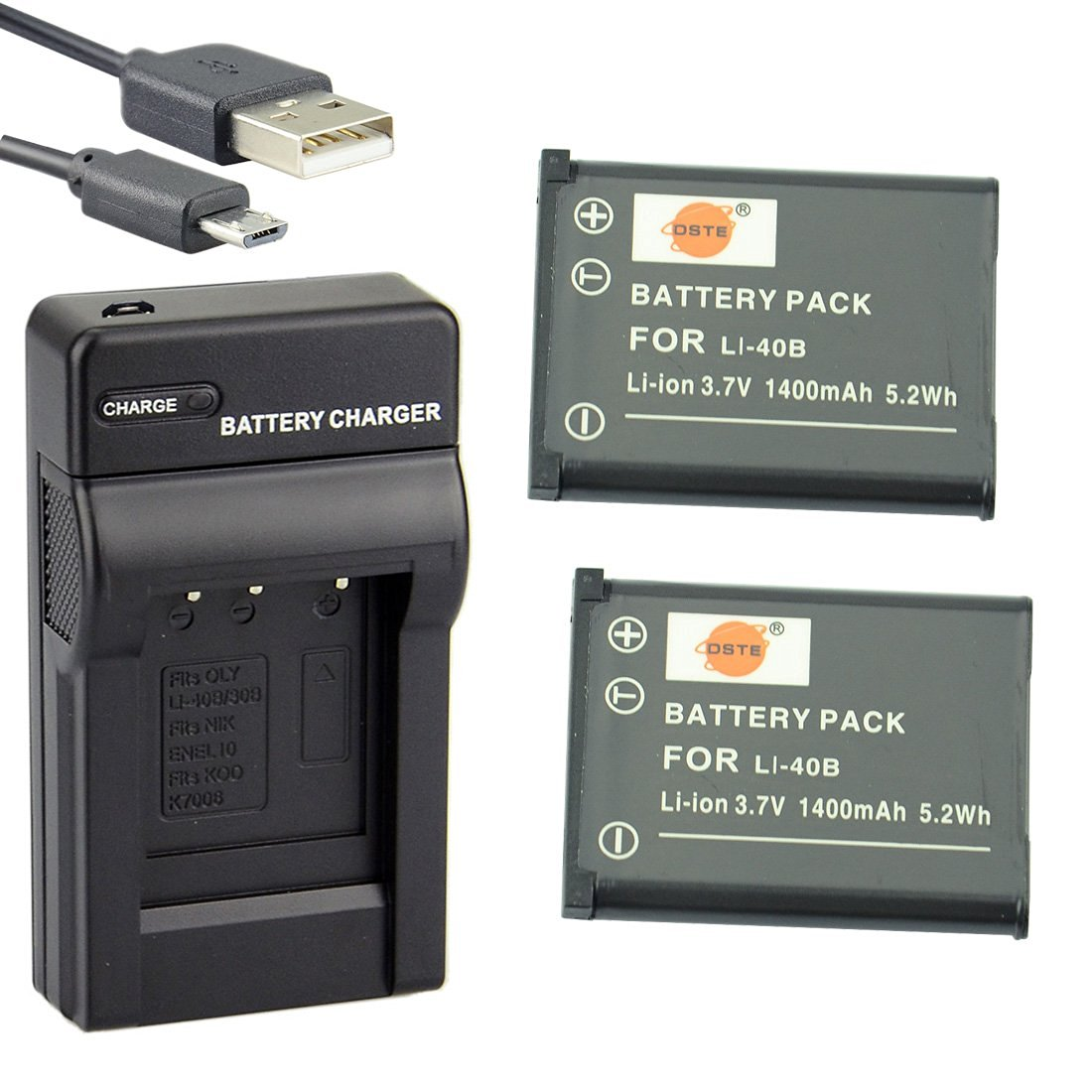 FE-160 FE-190 FE-230 CHARGER Micro-USB for OLYMPUS FE-150