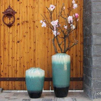 Blue And White Cerative Ceramic Floor Decoration Flower Vases