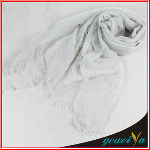 Arab Muslim White Polyester Prayer Shawl