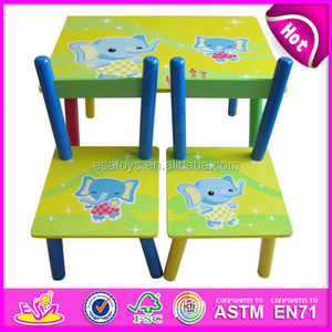 Cheap wood table and chairs toy for kids,lovely cheap wood table and chairs set,cute baby cheap wood table and chairs W08G082