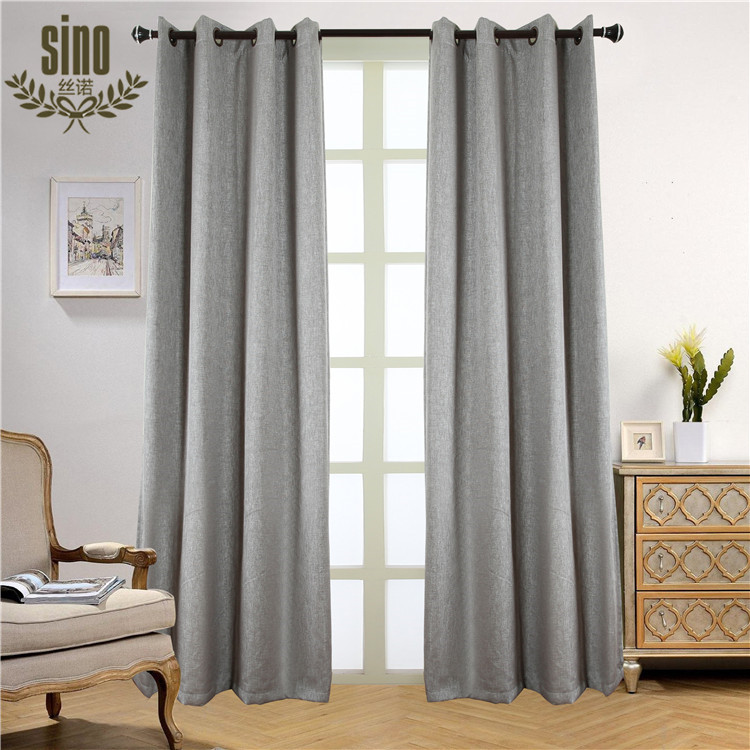 Home Decorative Flower twist linen blackout luxury curtain for room
