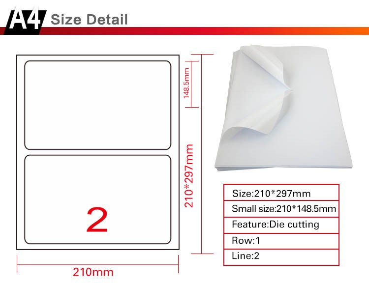"Shipping Labels 2 half sheets letter size 5-1/2"" X 8-1/2"" usps label 5.5 x 8.5 inch"