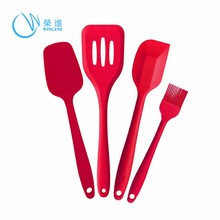 Hot Sales Flexible and Eco-friendly Silicone Kitchen Utensil Pack Spatula Ladle Turner Masher Spoons silicone cookware sets