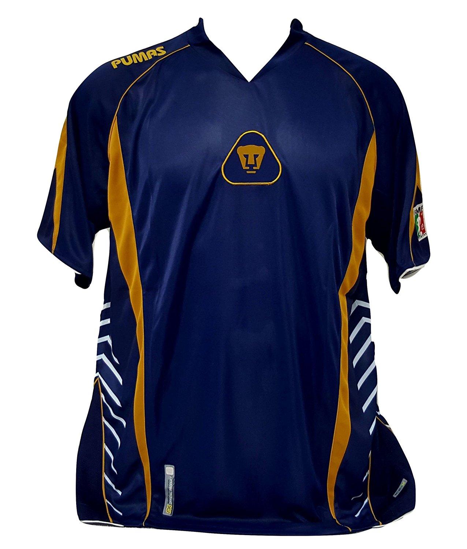 0017ab420e4 Get Quotations · Pumas de la UNAM Men's Soccer Navy Jersey Size X-Large  Official Licensed