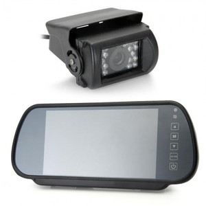 "7"" LCD Wide Screen Car Rear View Backup Parking Mirror Monitor 18 LED Camera"