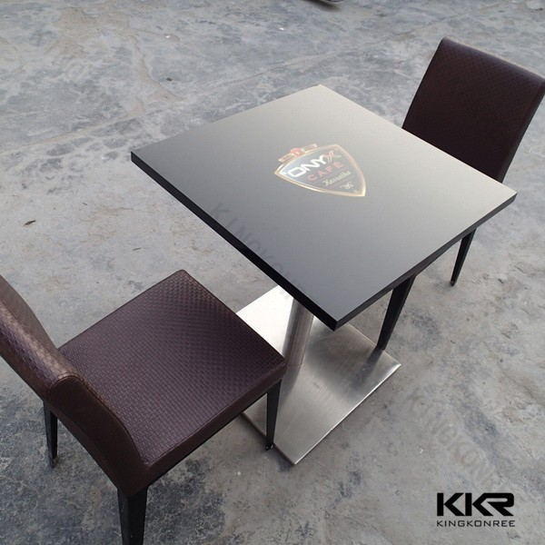 artificial stone solid surface prefab cafe table tops