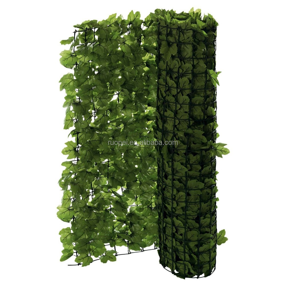 Uv Outdoor Plastic Leaves Artificial Green Leaf Privacy