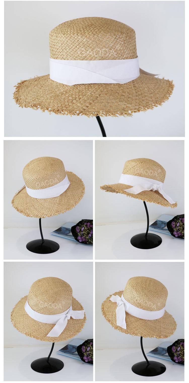 Natural Elegante De Mujer De Sombrero De Paja/natural Playa ...