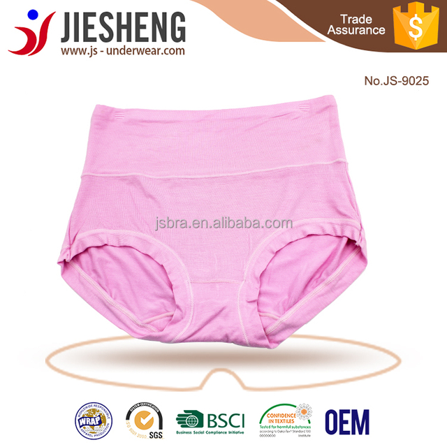 d22bf12bef8 High Waist Briefs Bamboo Fiber Spandex Women Underwear JS9025