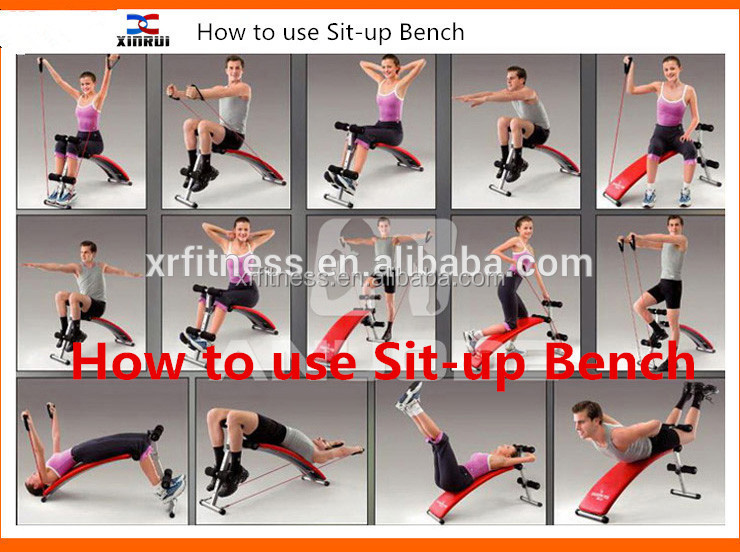 Fitness Curve Sit Up Bench Sport Equipment Exercise