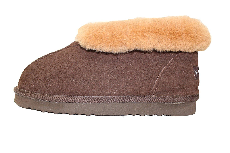d4d4d5fef Get Quotations · Furfurmouton Genuine Australian Sheepskin Slippers Booties  Women's Super Thick Premium Sheepskin Slipper
