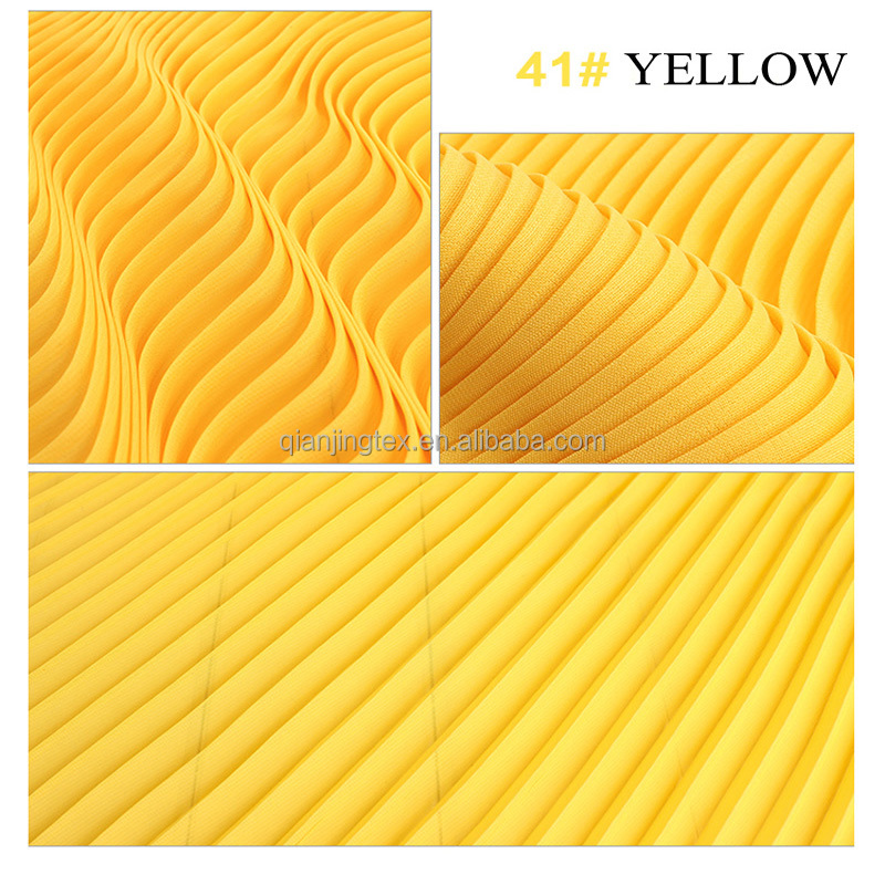 Factory price 75D plain woven dyed crinkled chiffon fabric