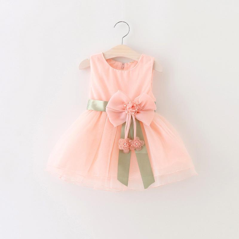 ca88e9e0b Princesa vestido del bebé de la fiesta de cumpleaños para la muchacha del  niño ropa casual