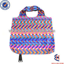 colorful wave stripes recyclable shopping bags