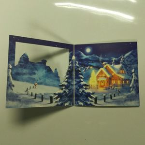 LED lighting up handmade paper greeting cards for Christmas