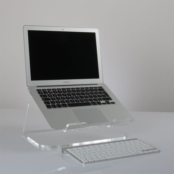 Exceptionnel Custom High Quality Bent Acrylic Laptop Stand With Keyboard Storage