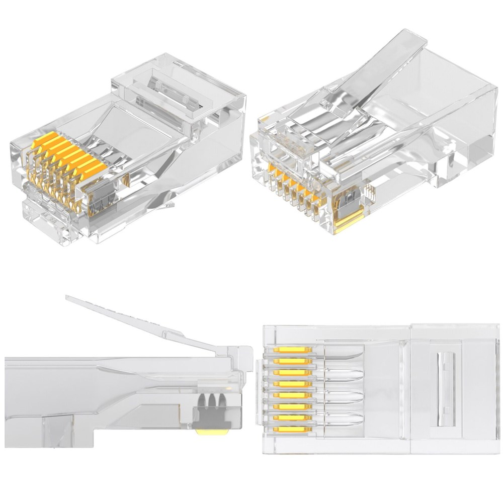 Glory Network Cable Unshielded 8 Pin Cat5e Cat6 Modular UTP Plugs RJ45