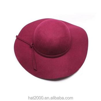 cf6a2e1b072 Womens fashion Soft Vintage Wide Brim german Wool Felt Fedora Hat for ladies