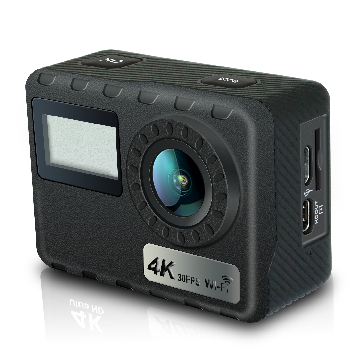 Ausek All winner V5 real 4k 60fps action camera from ISO9001
