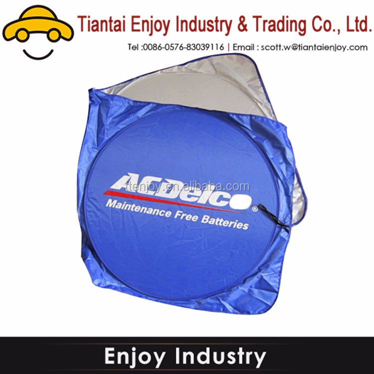 Logo printed Promotional Car Sun Shade Wire