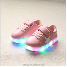 Spring Autumn Winter Children Baby Boys Sneakers Led Light Sport Shoes For Girls Kids