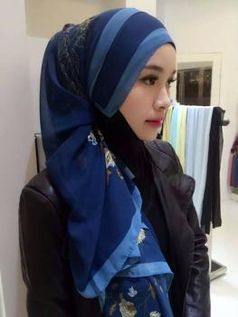 2016 Atas Penjualan Nyata Gadis Sifon Muslim Jilbab Panjang Tudung