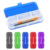New design giveaway key roping 4 compartment double sides school supplies case blue solid colour stationery plastic pencil box