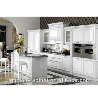 European Style Modern Shaker Door High Gloss White Painting Kitchen ...