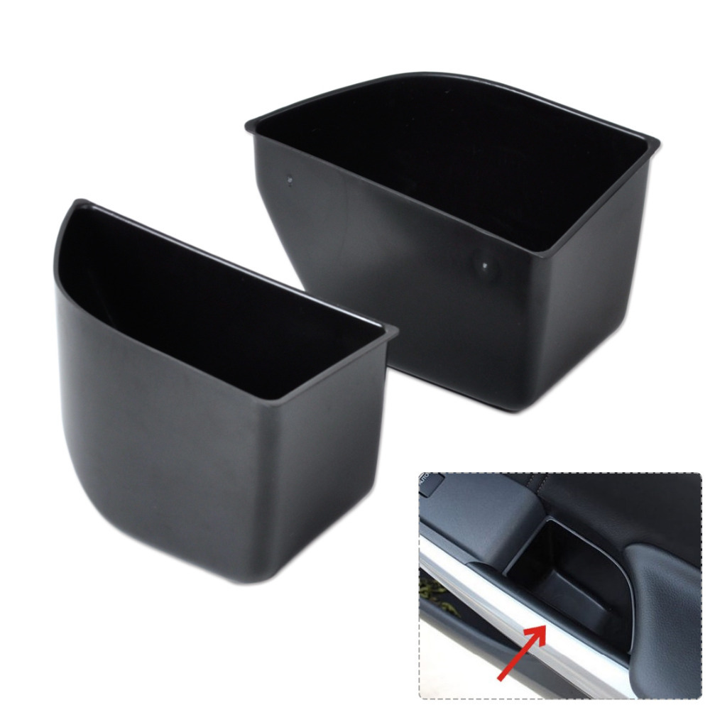 Get Quotations · New 2Pcs Black Front Door Armrest Secondary Storage Box  Container Holder For Honda Accord 2008-