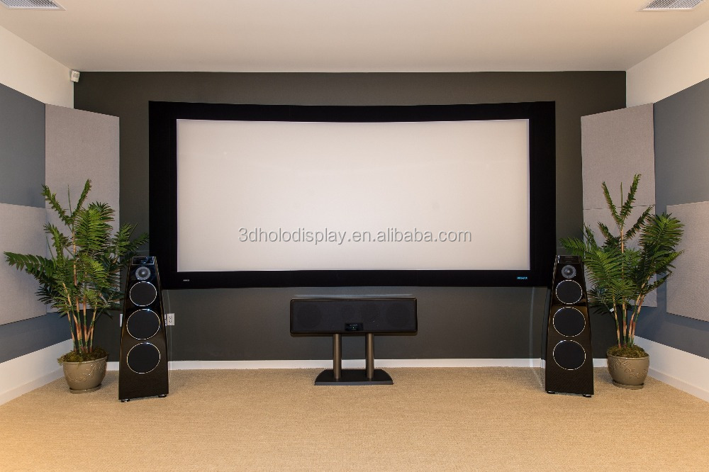 169 curved fixed frame projector screen curved screen for home theater
