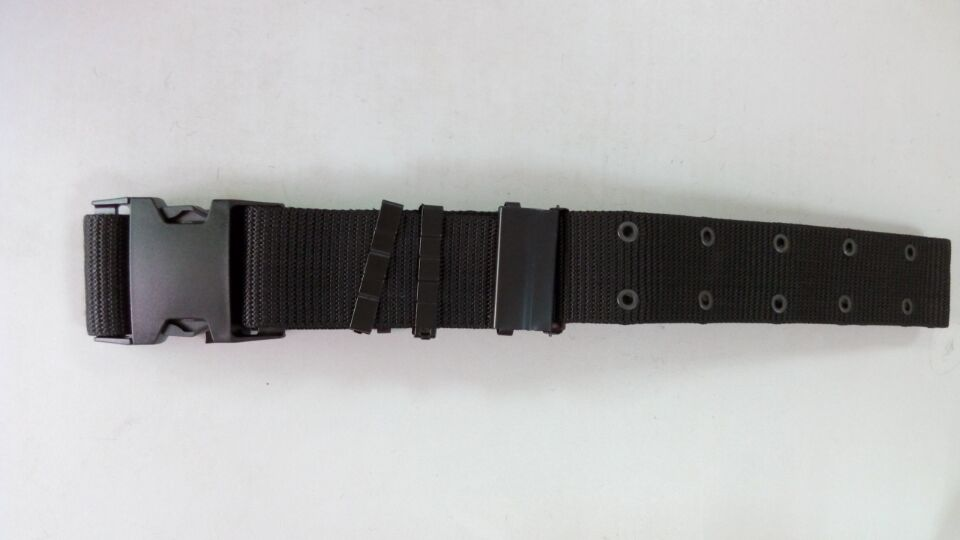plastic buckle adjustable military belt