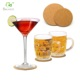 Customized glasses cork caosters drink cup coaster pads coffee cup pad
