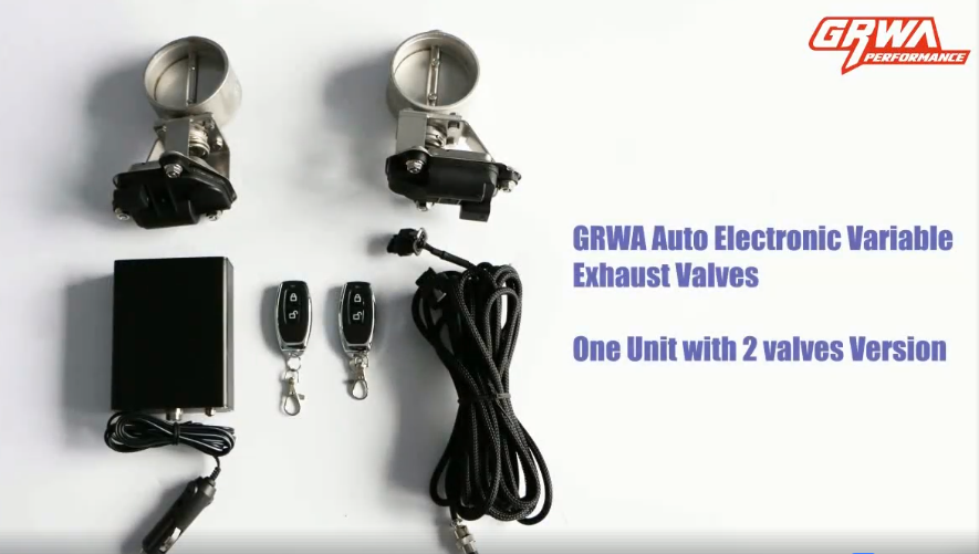 "GRWA 2.5"" electric dual Exhaust Valve/flap/cutout in Japan"