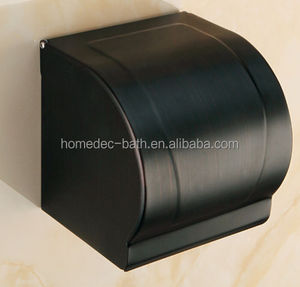 Brass Black Toilet Roll Paper Towel Holder