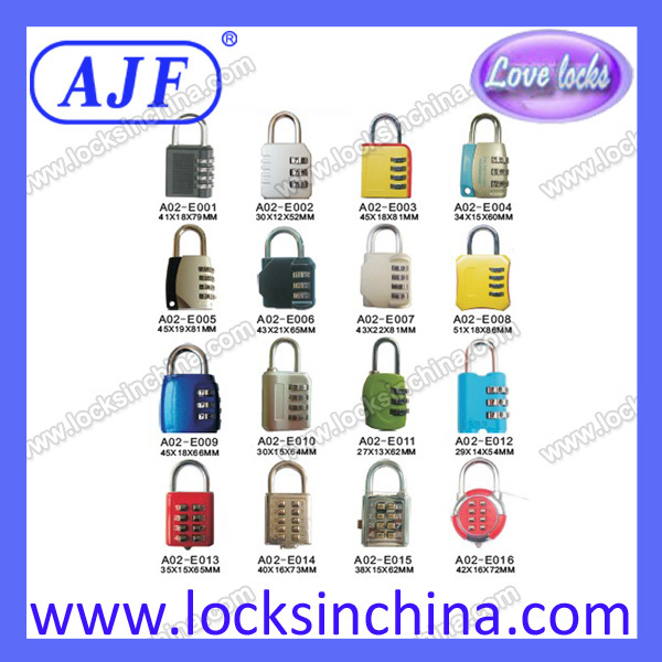 European Market-AJF 50mm high protection 4 numbers solid brass outdoor lock