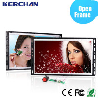 7 inch lcd monitor with USB/SD card, 16:9 mini Open Frame digital signage for advertising display