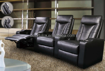 Home Theater Recliner Sofa For Home, Hotel Leather Cinema Sofa/recliner  Cupholder Theater Chair