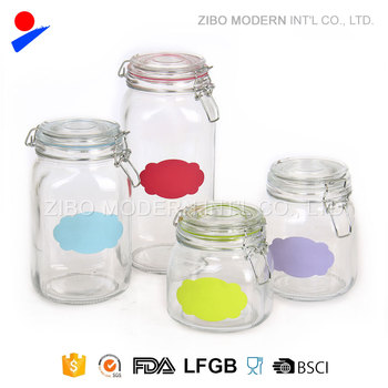 Latch Lid Glass Jars With Rubber Gasket Ring Buy Latch Lid Glass