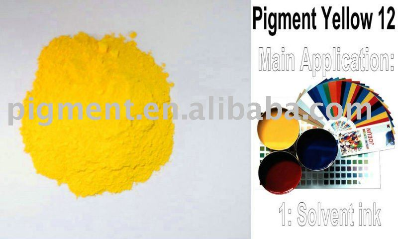 Pigment Yellow 12 for solvent ink