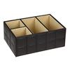 hot sale high quality pu leather decorative desktop storage box