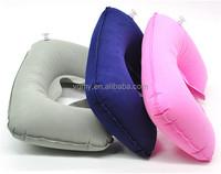 Air Inflatable Pillow U shape Neck Rest Air Inflatable Travel Plane train Travel Pillow