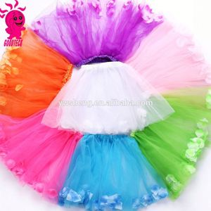 The new 2016 princess dress skirt skirts wholesale children's performances, net yarn multicolor custom colors petals tutu skirt